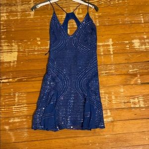 Sequin blue dress